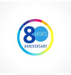 80 anniversary circle logo vector