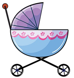 a baby buggy vector image