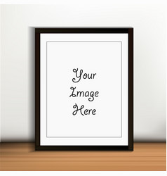 a3 a4 vertical blank picture frame for vector image