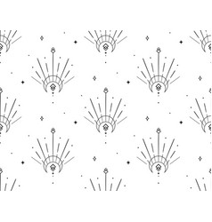 Abstract background seamless pattern moon and sun vector