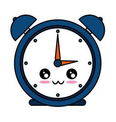 Alarm clock kawaii character vector