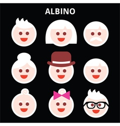 Albino people Albinism icons set vector image
