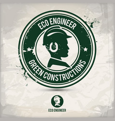 alternative eco engineer stamp vector image