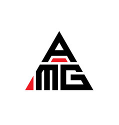 Amg triangle letter logo design with triangle vector