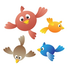 Amusing birdies vector