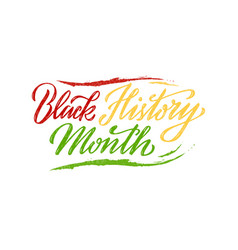 Black history month colorful lettering vector