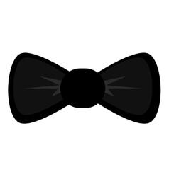 Black round bowtie vector