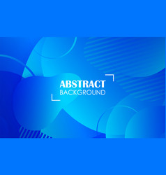 blue geometric fluid shapes banner abstract vector image