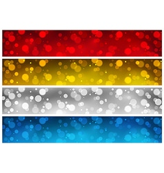 Blurry banner backgrounds vector