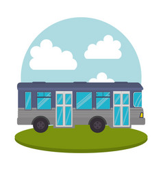 Bus public transport icon vector