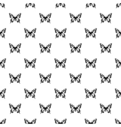 Butterfly with beautiful ornament on wings pattern vector
