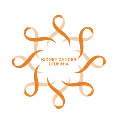 Cancer ribbon orange color vector