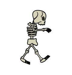 cartoon skeleton bones fairy tale vector image
