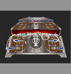 casket with jewels vector image