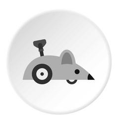 Clockwork mouse icon circle vector