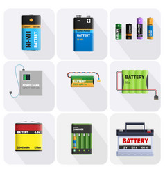 Colorful charging devices set vector