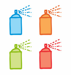 colorful spray cans vector image