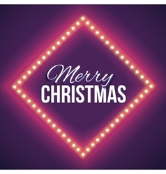 Congratulation to Christmas with red lights vector image