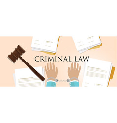 Criminal law legal crime handcuff paper and vector