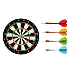 darts set isolated vector image