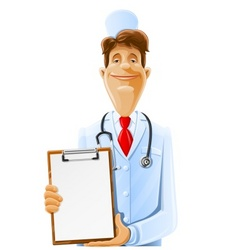 doctor cartoon vector image vector image