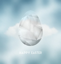 Easter Abstract Crystal Egg vector image
