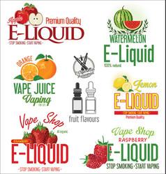Electronic cigarette liquid flavour retro design vector