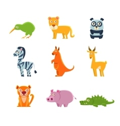 Exotic Toy Fauna Collection vector image