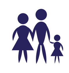 Family pictogram icon design vector