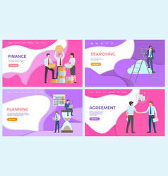 Finance searching of investors new business ideas vector
