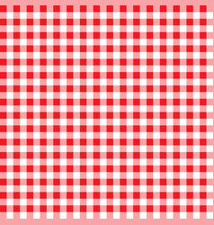 firebrick gingham pattern textured red and white vector image