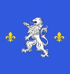 Flag of nogent-le-rotrou in eure-et-loir of vector