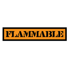 Flammable stamp typ vector