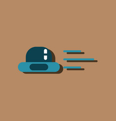 flat icon design collection flying saucer in vector image