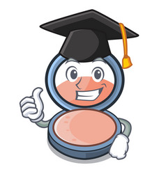Graduation blosh on in the shape character vector