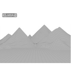 gray white mountains frame polygonal abstract vector image