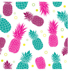 green pink pineapples summer colorful vector image