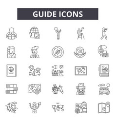 Guide line icons for web and mobile design vector