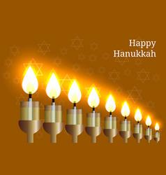 hanukkah 2-10 december judaic holiday nine vector image