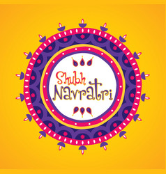 Happy navratri greeting design vector