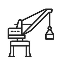 harbor crane icon vector image