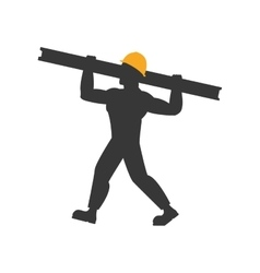 Helmet metal constructer worker industry icon vector