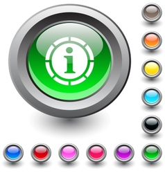 Information round button vector image