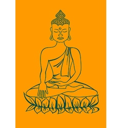 Isolated statue of Buddha vector image
