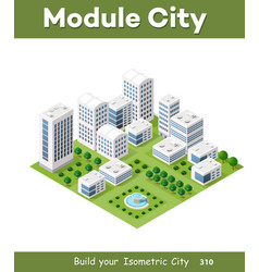 isometric urban architecture vector image