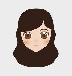 japan girl design vector image