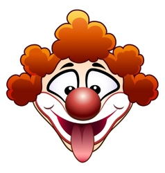 joking circus clown head vector image