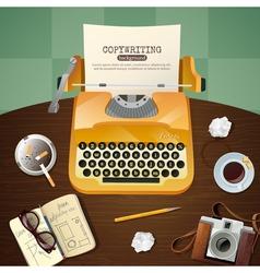 Journalist vintage typewriter vector