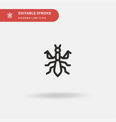 Mantis simple icon symbol vector