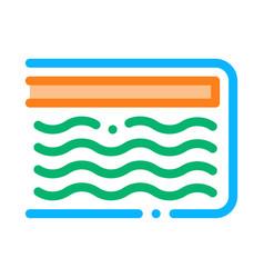 Mattress memory foam icon outline vector